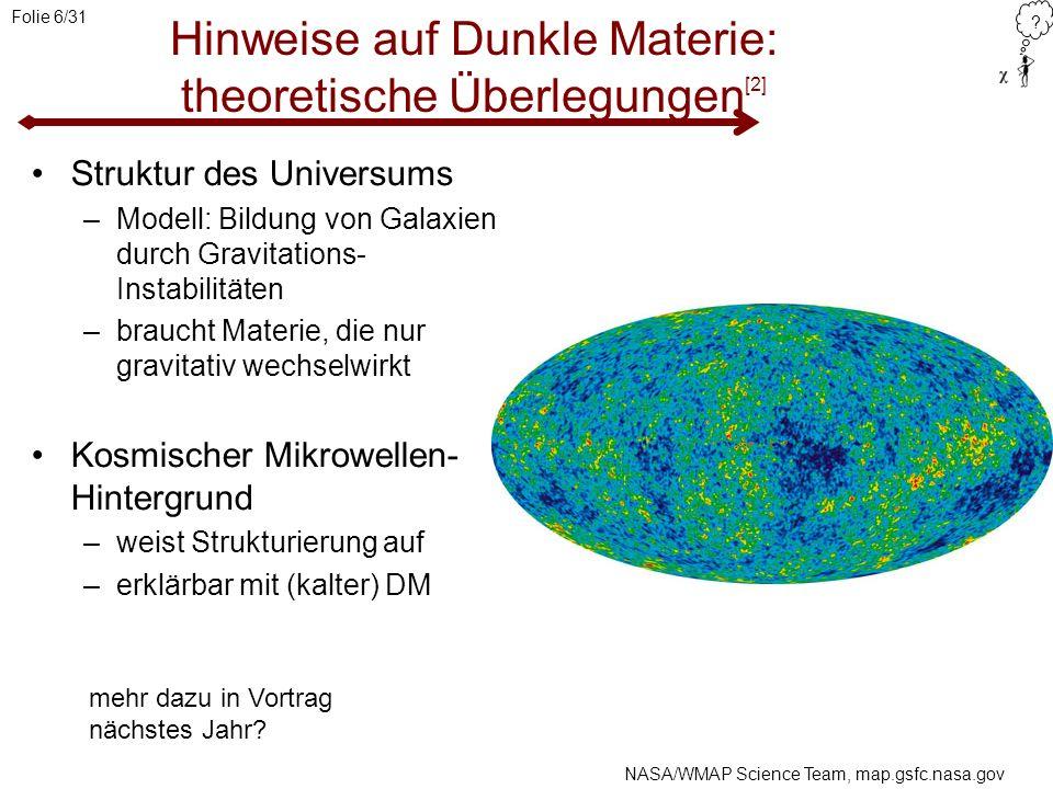 Hinweise auf Dunkle Materie: theoretische Überlegungen[2]